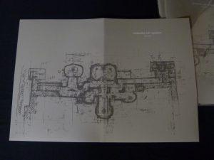村野藤吾氏による谷村美術館の図面をデザイン